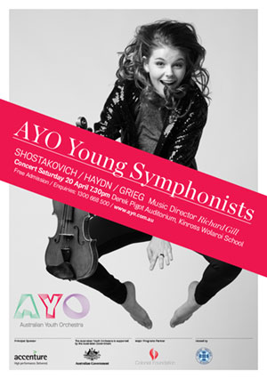 Australian Youth Orchestra Poster Design, North Sydney