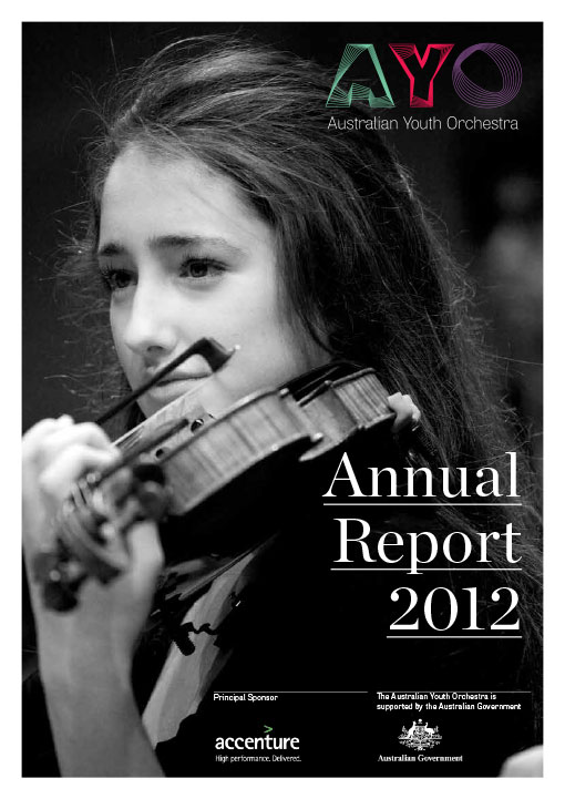 AYO Report, Annual Report, Graphic Design Image 1