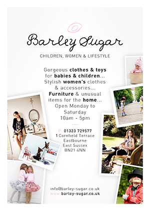 Barley Sugar flyer design branding UK London